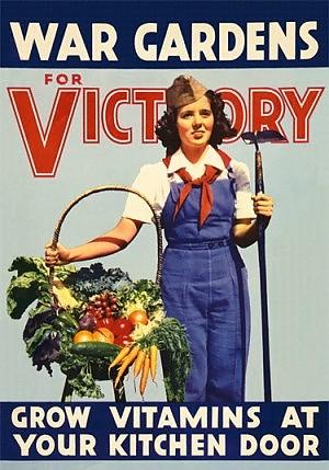 """LA CRISI ECONOMICA - rileva la Coldiretti - fa dunque ricordare i TEMPI DI GUERRA: sono famosi i 'VICTORY GARDENS' degli STATI UNITI e del REGNO UNITO in cui nel 1945 venivano coltivati 1,5 milioni di allotments sopperendo al 10 per cento della richiesta di cibo (da """"la Repubblica"""" del 10/5/2013)"""
