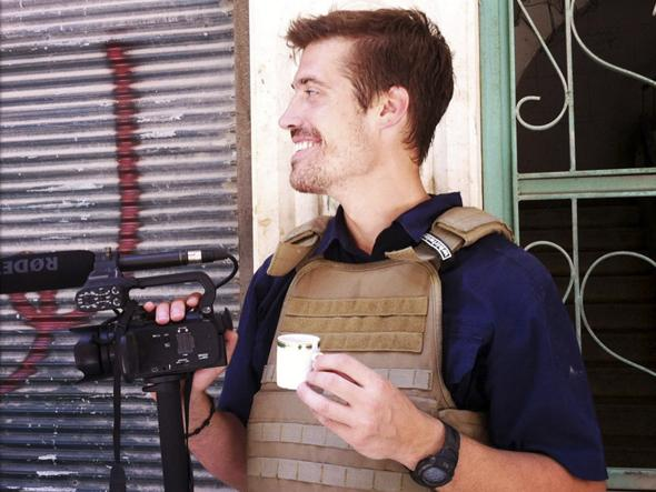 James Foley ad Aleppo, in Siria, nel luglio 2012