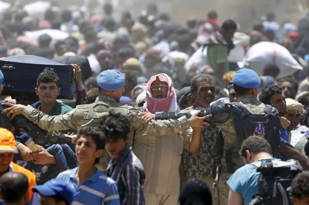 """profughi siriani in Turchia (dalla rivista """"Internazionale"""")"""